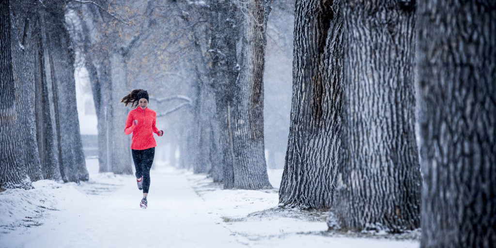 Running in the winter.