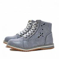 Ботинки демисезонные Nordman Go на шнуровке для девочек, голубые