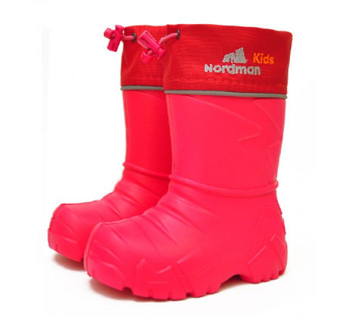 Сапоги Nordman Kids из ЭВА с мехом, красные