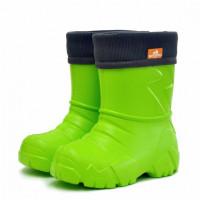 Сапоги Nordman Kids из ЭВА с флисовым утеплителем, лаймовые