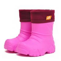 Сапоги Nordman Kids из ЭВА с флисовым утеплителем, розовые
