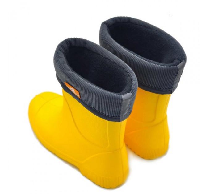 Детские сапоги из ЭВА Nordman Jet с флисовым утеплителем, желтые