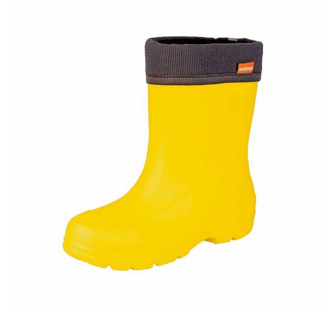 Сапоги подростковые Nordman Teen со съёмным флисовым утеплителем, желтые