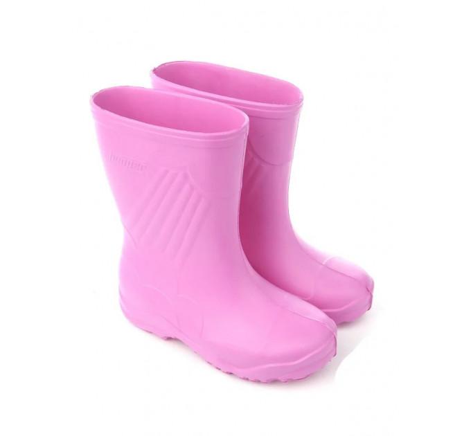 Сапожки резиновые детские из ЭВА Nordman Sun с утеплителем, розовые