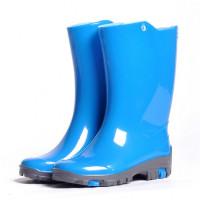 Детские утепленные резиновые сапожки Nordman Rain, светло-синие
