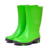 Детские утепленные резиновые сапожки Nordman Rain, лаймовые