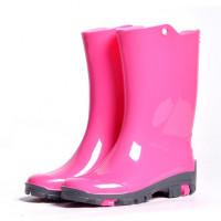 Детские утепленные резиновые сапожки Nordman Rain, розовые