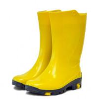 Детские утепленные резиновые сапожки Nordman Rain, жёлтые