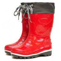 Детские утепленные сапоги Nordman Step с манжетой, красные