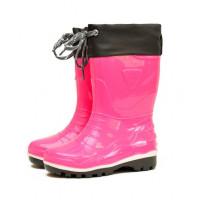 Детские утепленные сапоги Nordman Step с манжетой, розовые