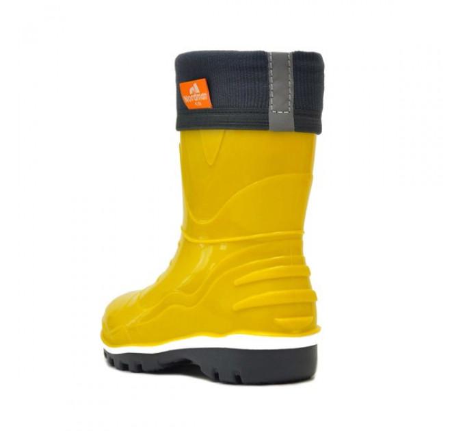 Детские сапоги Nordman Step с флисовым утеплителем, желтые