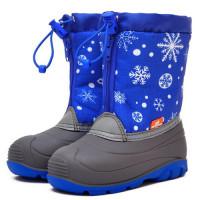 Детские сноубутсы Nordman Little One Снежинки, синие