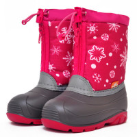 Детские сноубутсы Nordman Little One Снежинки, розовые