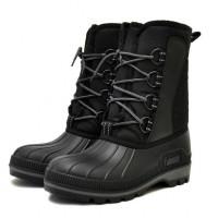 Сноубутсы утепленные из ТЭП на шнурках, черные
