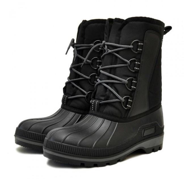 Сноубутсы Nordman Kraft утепленные из ТЭП на шнурках, черные