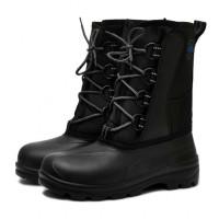Сноубутсы мужские утепленные из ЭВА на шнурках, черные