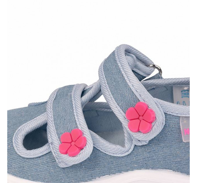 Тапочки детские Nordman Stars джинсовые, голубые