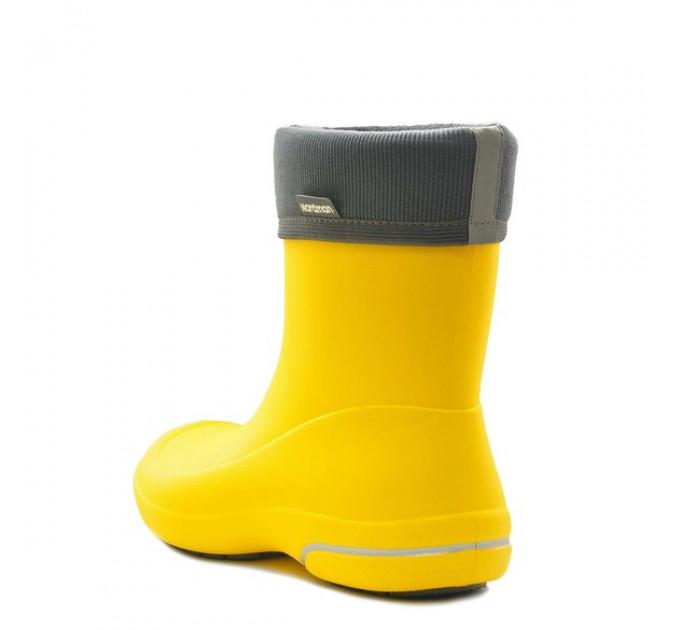 Женские сапоги Nordman Kleo из ЭВА с флисовым утеплителем, жёлтые с серым