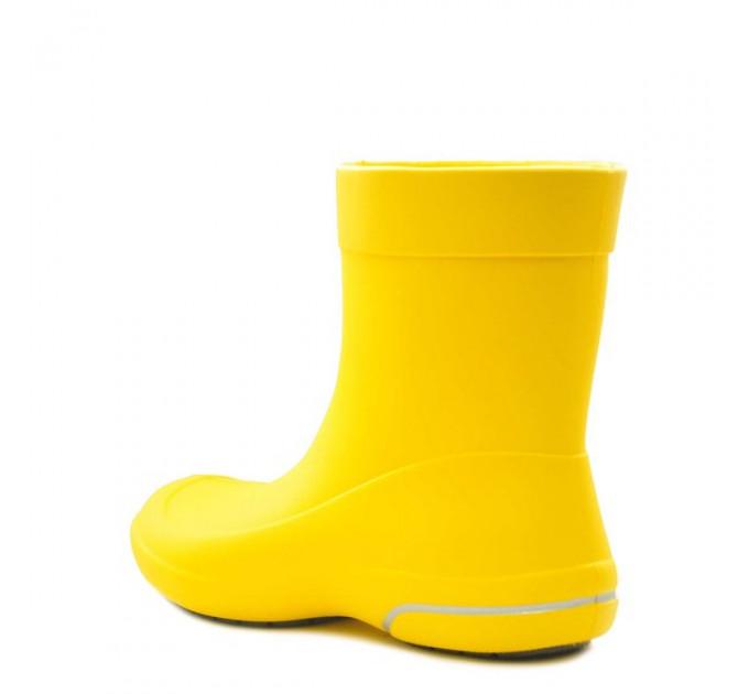 Женские сапоги Nordman Kleo из ЭВА, жёлтые с серым